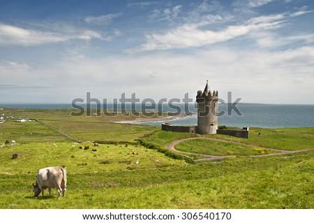 old irish castle on the west coast of ireland