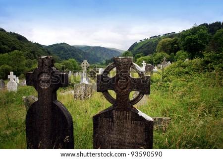 Old irish graveyard