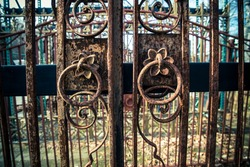 Old iron gates