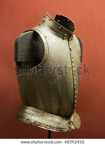 Old iron knight's breastplate in Valletta Grand Master Palace