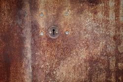 old iron lock on the door