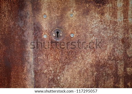 old iron lock on the door