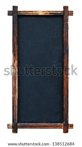 Old isolated chalkboard for restaurant sign