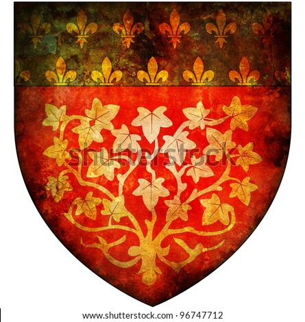 old isolated over white coat of arms of amiens