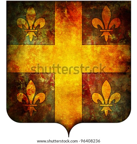 old isolated over white coat of arms of champagne