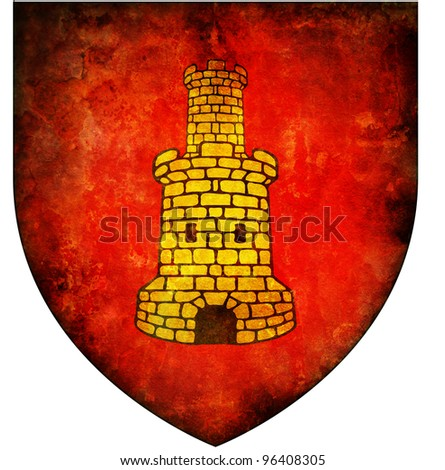 old isolated over white coat of arms of corsica