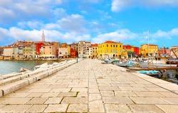 old Istrian town in Porec, Croatia.