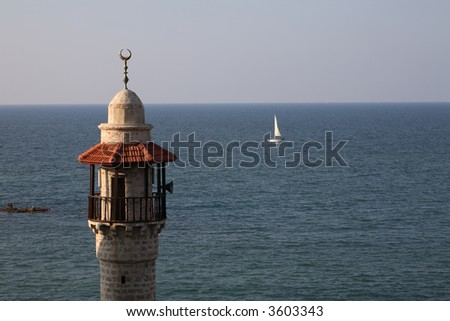 Old Jaffa - The sea mosque