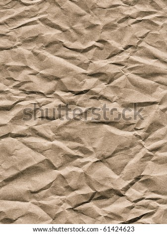 old jammed crushed paper as background