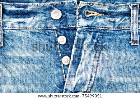 Old jeans and buttons