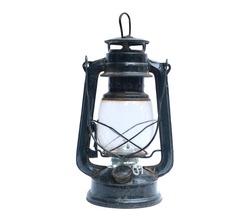 old Kerosene lamp isolated on white background.