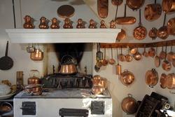 Old kitchen  on Corfu island Greece