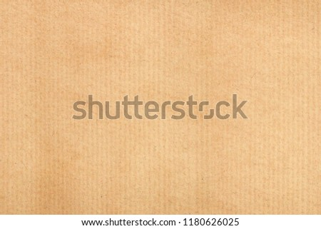 Old kraft paper texture vertical striped pattern for wrapping. Old kraft paper texture background.
