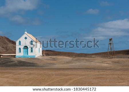 Old Lady of Compassion church  in Sal Island, Pedra de Lume, Cape Verde  Foto stock ©