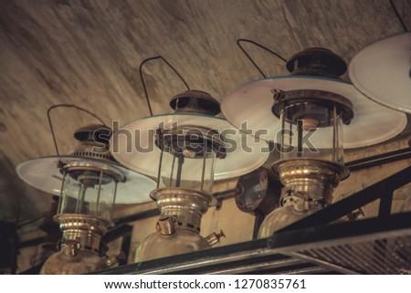 Old lamps, antique lamps, lamps