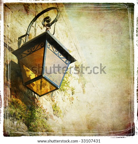 old lantern   vintage styled...