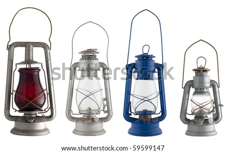 Old lanterns isolated of the background.
