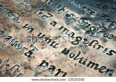 Old latin epitaph