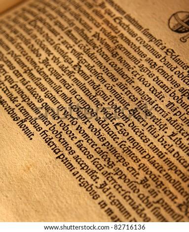 old latin text