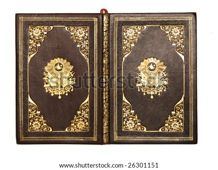 old leather-bound book