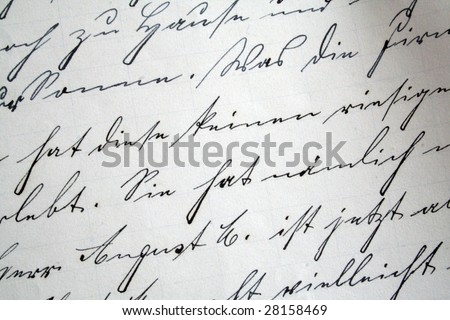 old letter - stock photo