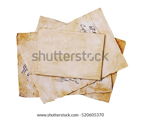 old letters and blank paper...