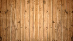 Old light yellow color wood wall for seamless wood background and texture.