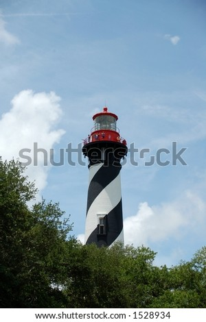 Old lighthouse by St Augustine, Florida
