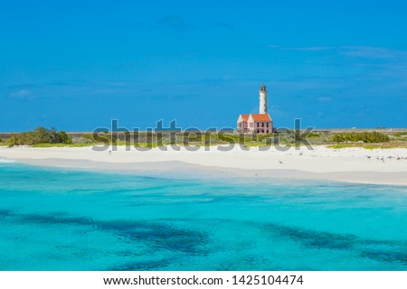Old lighthouse on Klein Curacao Stockfoto ©