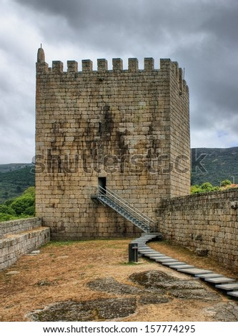 Old Linhares castle in Celorico da Beira, Portugal