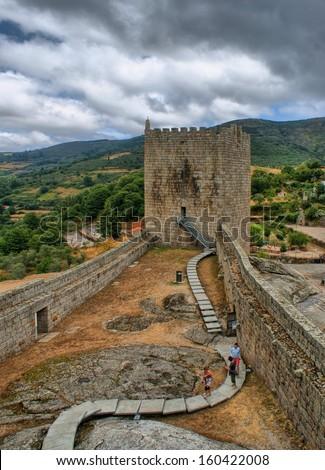 Old Linhares castle in Celorico da Beira, Portugal