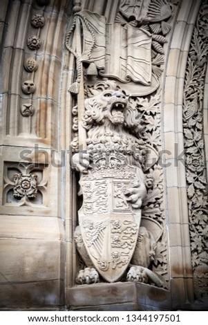 Old Lion Statue