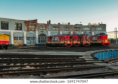 Old locomotive depot with the turning circle