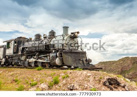 Old locomotive, Royal Gorge Area, Colorado, USA