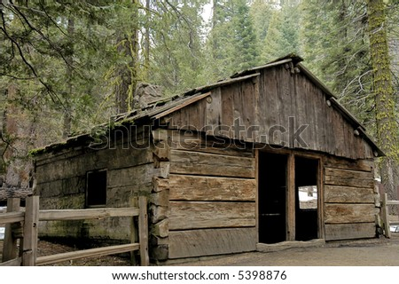 Old log cabin made with sequoia trees in sequoia national for Log cabin sequoia national park
