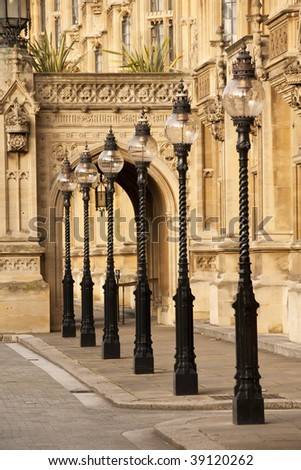 Old London Street Lamps, London, England UK