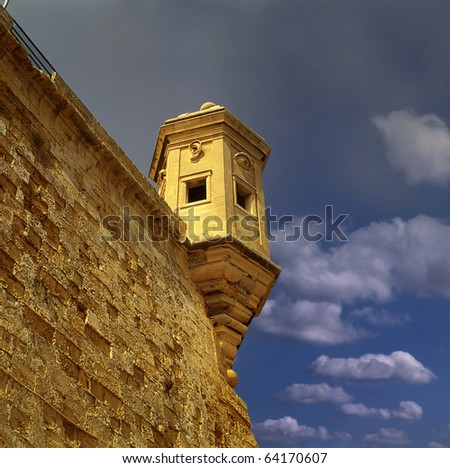 Old lookout tower, Fort Saint Michael, Malta, Maltese islands