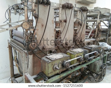 Old machinery in the factory