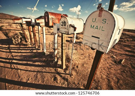 old mailboxes in west united...