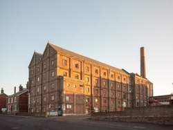 old malt factory building in mistley essex outside; essex; england; uk