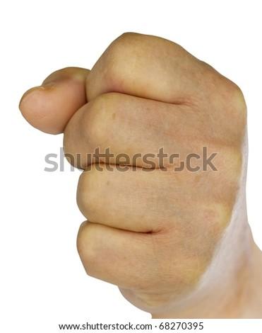 old man fist - stock photo