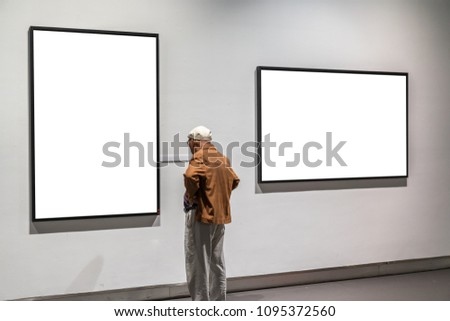 old man in gallery