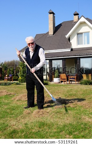 old man on garden