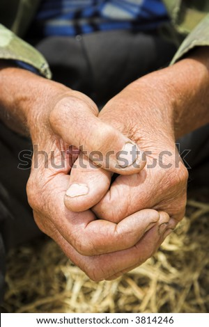 old man´s hand