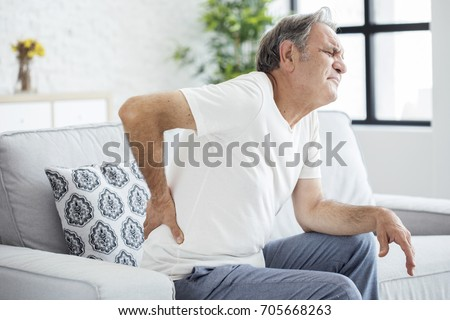 Old man with back pain #705668263