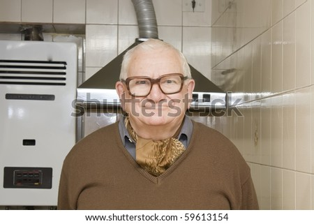 old man with funny face