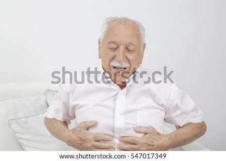 Old man with stomach pain #547017349