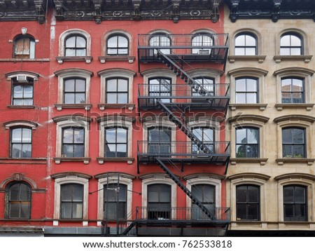 old Manhattan apartment buildings #762533818