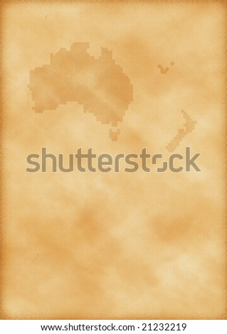 political map of australia and new zealand. makeup world map of australia