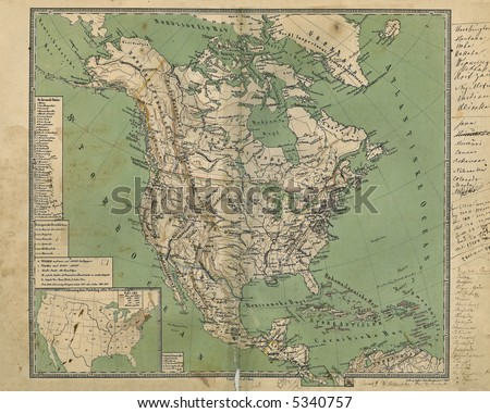 Old Map of North America 1867